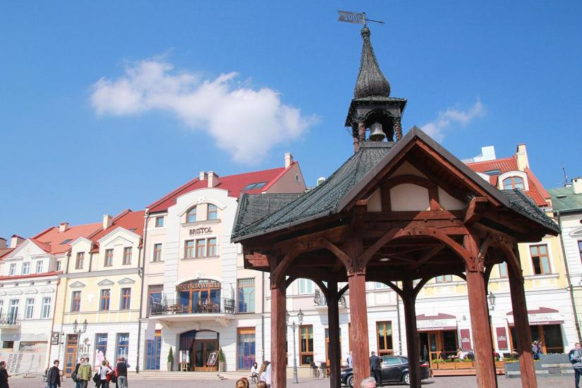 A well on the market square in Rzeszów